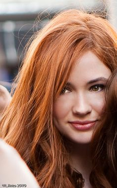 Karen Gillan - Light Auburn -- she has beautiful hair, but I don't know if I want my hair that light and bright red. It would be a huge change!