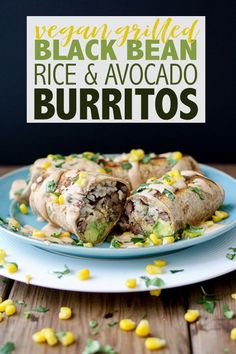 An easy throw together dinner that tastes amazing! These vegan burritos are fill… An easy throw together dinner that tastes amazing! These vegan burritos are filled with black beans, rice and avocado then grilled to a crispy perfection. Vegan Mexican Recipes, Vegan Dinner Recipes, Vegan Recipes Easy, Veggie Recipes, Whole Food Recipes, Vegetarian Recipes, Freezer Recipes, Veggie Food, Amazing Recipes