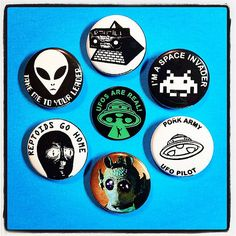 Out of this world #blitzkriegbuttons & #glowinthedark #ufosarereal #enamelpins from the #porkshop in the #goblinkomegamall | Flickr - Photo Sharing!