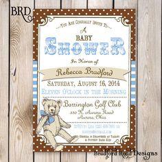 Teddy Bear Baby Shower Invitation Teddy Bear Picnic Party Teddy Bear Printable Invitation 5x7