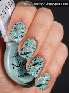 Today I would like to show you a manicure which I consider a bit of a happy accident. I had been wearing the Nicole by OPI On W. Crazy Nail Art, Crazy Nails, Love Nails, Pink Nails, How To Do Nails, My Nails, Beautiful Nail Art, Gorgeous Nails, Pretty Nails