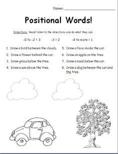 9 Best Preschool position words images in 2019