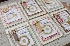 Tray Tuesday....holiday cards with embossing + watercolor