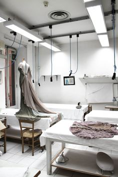 Just another day en Valentino's atelier...