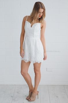 ministry of style spindle romper - white