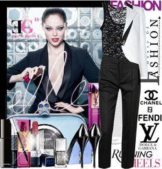 """Elle Tuxedo"" by eleonoragocevska ❤ liked on Polyvore"