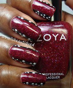 unique way of nailart . Zoya Blaze Embellished With Style! From Nails Beautiqued