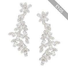 Kate Spade New York Crystal Ivy Statement Earrings