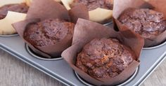 Healthy Chocolate Banana Muffins (sneakily turned into cupcakes! Cookie Desserts, Dessert Recipes, Sugar Free Baking, Chocolate Banana Muffins, Muffin Bread, Irish Recipes, Healthy Muffins, Food To Make, Delicious Desserts