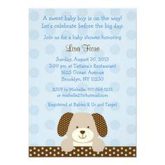 Puppy Baby Shower Invitations
