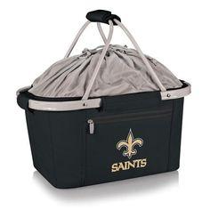 New Orleans Saints Picnic Basket Tailgating Tote Bag