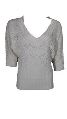 XOXO White Knit Sweater