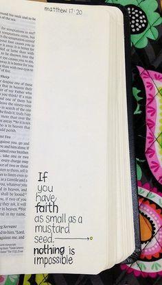 Se você tem fé tão pequena quanto uma semente de mostarda, nada é impossível