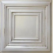 #TD05 Antique White, Faux tin Tile. http://www.talissadecor.com/catalog/glue-up-faux-tin-ceiling-tiles/signature_line