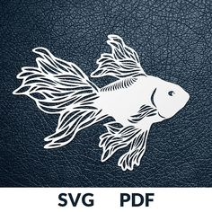 GOLD FISH >> You are buying the digital template of this cut only, not a finished cut. This file is ready to be used with your Cricut, Silhouette Cameo, Brother, or similar cutting machines. The template can be scaled to any size you need for printing or cutting purposes. HOW DOES IT