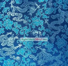 Chinese Dragon Brocade Fabric