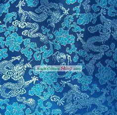 Chinese Dragon Brocade Fabric