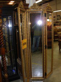 Henredon tri-fold mirror