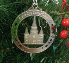 Personalized Provo City Center Temple Stainless Steel Custom Christmas Ornament