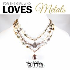 For the Girl Who Loves #Metals #Fun #Funky #Jewelry #Gift #HolidayShopping #GiftIdea http://ht.ly/FPQu306aafr