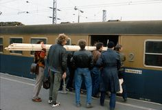 Dworzec Warszawa Wschodnia, 1986, Polska. Foto © Chris Niedenthal