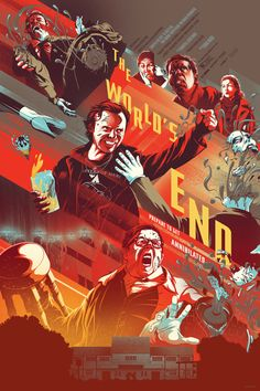 THE WORLD'S END Mondo movie poster