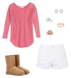 """""""Untitled #331"""" by carolinamcury ❤ liked on Polyvore featuring Victoria's Secret, Annello, Allurez, UGG Australia and Topshop"""