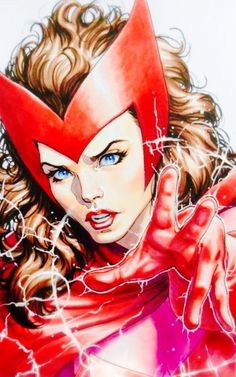 Scarlet Witch by David Yardin Comic Book Characters, Marvel Characters, Comic Movies, Comic Character, Comic Books Art, Comic Art, Heros Comics, Marvel Comics Art, Marvel Heroes