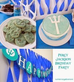 This is a story of a boy who turned Turns out he is a demi-god. So we threw a party. Gandalf loves to read. Like most boys his age he loves the Percy Jackson series. We thought that would be a great theme for his next party. So I ended up. Percy Jackson Cake, Percy Jackson Crafts, Percy Jackson Birthday, Happy Birthday Percy, 11th Birthday, Birthday Party Themes, Birthday Ideas, Birthday Stuff, Teen Birthday