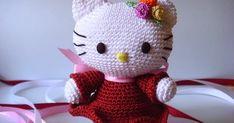 Crochet Food, Knit Crochet, Crochet Ideas, Hello Kitty Crochet, Master Class, Doll Clothes, Origami, Dolls, Knitting Toys