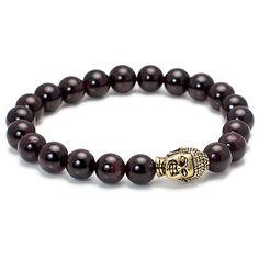 Exclusive King's Buddha Head and Garnet Stone, Women's Bracelet, Gifts, Holiday Gifts, Jewelry, Bracelets, Garnet, Red, Buddha, Meditation, Spiritual Beads, Holiday Gift Guide