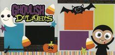 halloween scrabook layout