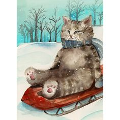 Cat Christmas, cute christmas Cards, Cat Christmas Card Set, Animal... ($11) ❤ liked on Polyvore featuring home, home decor, xmas card, christmas greeting card, cat home decor, christmas home decor and christmas holiday card