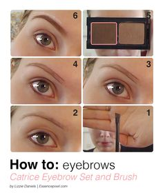 Eyebrow Tutorial in 6 steps using Catrice eyebrow set and Catrice eyeliner brush  |  For a more detailed step by step visit www.essencepixel.com Enjoy!