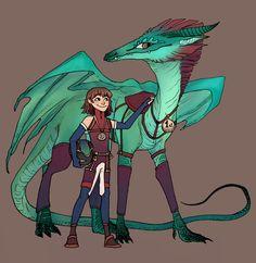 Dragon and dragon rider by bruncikara
