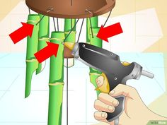 How to Make a Bamboo Wind Chime (with Pictures) - wikiHow Bamboo Wind Chimes, Wind Chimes Craft, Diy Craft Projects, Diy And Crafts, Carillons Diy, Bamboo Trellis, Indoor Crafts, Tiki Bar Decor, Bamboo Canes