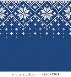 Seamless Knitting Pattern Stock Images in HD and millions of other royalty-free stock photos, illustrations, and vectors in the Shutterstock collection. Fair Isle Knitting Patterns, Fair Isle Pattern, Knitting Charts, Knitting Stitches, Crochet Patterns, Christmas Stocking Pattern, Christmas Knitting, Xmas Cross Stitch, Cross Stitch Patterns