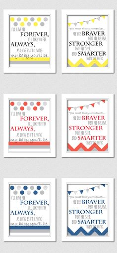 Rain or Shine: Free Nursery Printables [Sadly, my kids are just past the nursery stage, but I might use these for baby gifts - MO]