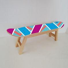 Skateboard Hocker darf im Haus eines Skateboarders nicht fehlen. #skate #skateboard #skater #dekoration #hocker #möbel