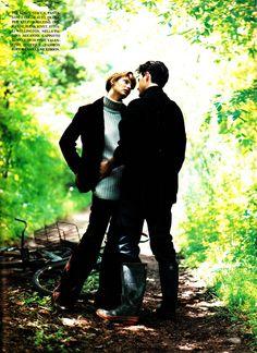 "https://flic.kr/p/woBZzJ   Vogue Italia ""Linda & Kyle""  Jan. 1994   Linda Evangelista and Kyle MacLachlan back when they were an item. Shot by Steven Meisel."