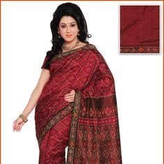 Red Pure Pochampally Handloom Silk Saree with Blouse