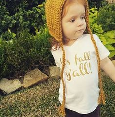 It's Fall Y'all Toddler Tshirt Gold Glitter on by ZanyDuDesigns