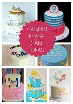 10 AWESOME Gender Reveal Cake Ideas on www.prettymyparty.com