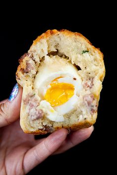 """Craftsman and wolves. """"The Rebel Within"""". A savory muffin with a whole egg cooked to perfect"""