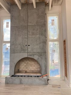 Go big with your fireplace design. Isokern fireplaces are customizable, visit earthcore.com for more information and to get your project started today! Fireplace Design, Fireplace Mantels, North America, Indoor Fireplaces, Industrial, Commercial, Big, Home Decor, Decoration Home