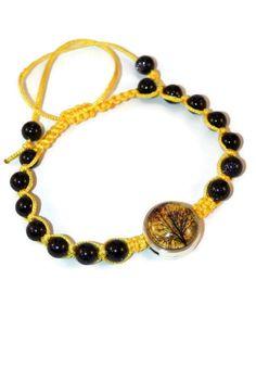 Blue Goldstone Floral Boho Bracelet Bracelet by MaKatarinaCorner   #bohobracelet , #bohojewelry , #shamballabracelet, #treeoflifebracelet , #floralbracelet , #bluegoldstonebracelet , #macramebracelet, #wrapbracelet, #treeoflife