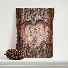 """Show your special someone just how much you care with the """"So In Love"""" Personalized Basswood Plank. Find the best personalized romantic gifts at PersonalizationMall.com"""