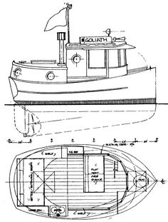 Micro Tug. Small pilothouse electric drive boats.