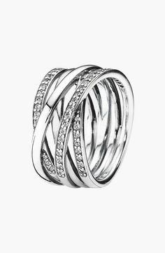 Free shipping and returns on PANDORA 'Entwined' Stack Ring at Nordstrom.com. Stacked, crisscrossing bands of polished sterling silver give gorgeous dimension to a twinkling ring.