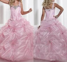 Wholesale Mother of the Bride Dress - Buy 2013 Cute Pink Little Girl Pageant Ball Gown Spaghetti Straps Colorful Sequins Beaded Floor Length Formal Evening Princess Dresses 13326, $64.53   DHgate